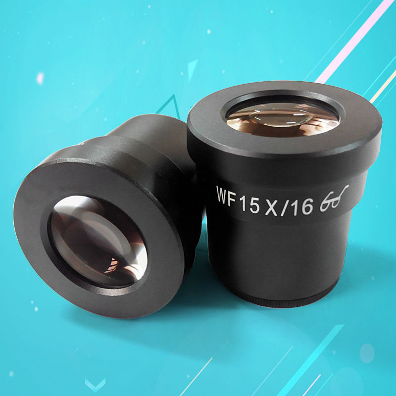 ФОТО A Pair Zoom Stereo Microscope Eyepiece High Eye Point Wide Field WF15X with 30mm Mounting 16mm Field of View