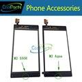 Substituição para sony m2 aqua d2403/m2 s50h d2303 toque frente digitador da tela de toque de vidro frete grátis 1 pc/lote