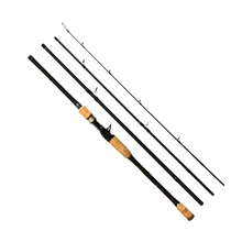 PALAEMON 4 Sections Portable Fishing Rod High Quality Carbon Spinning Fishing Rod 2.1m 2.4m Casting Travel Fishing Spinning Rod недорого