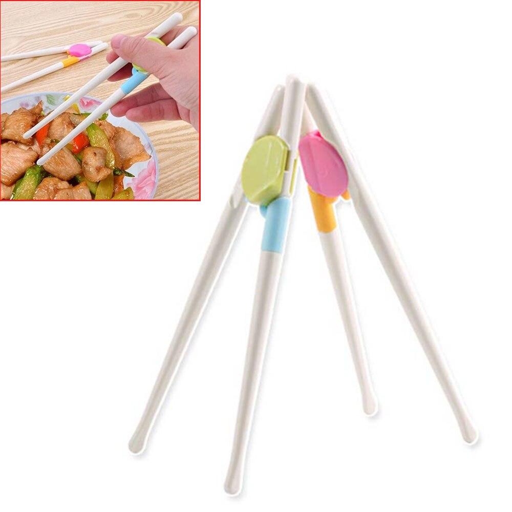 1 Para Baby Ausbildung Essstäbchen Lebensmittel-grade Kunststoff Baby Übung Ausbildung Essstäbchen Cartoon Kinder Lernen Essstäbchen