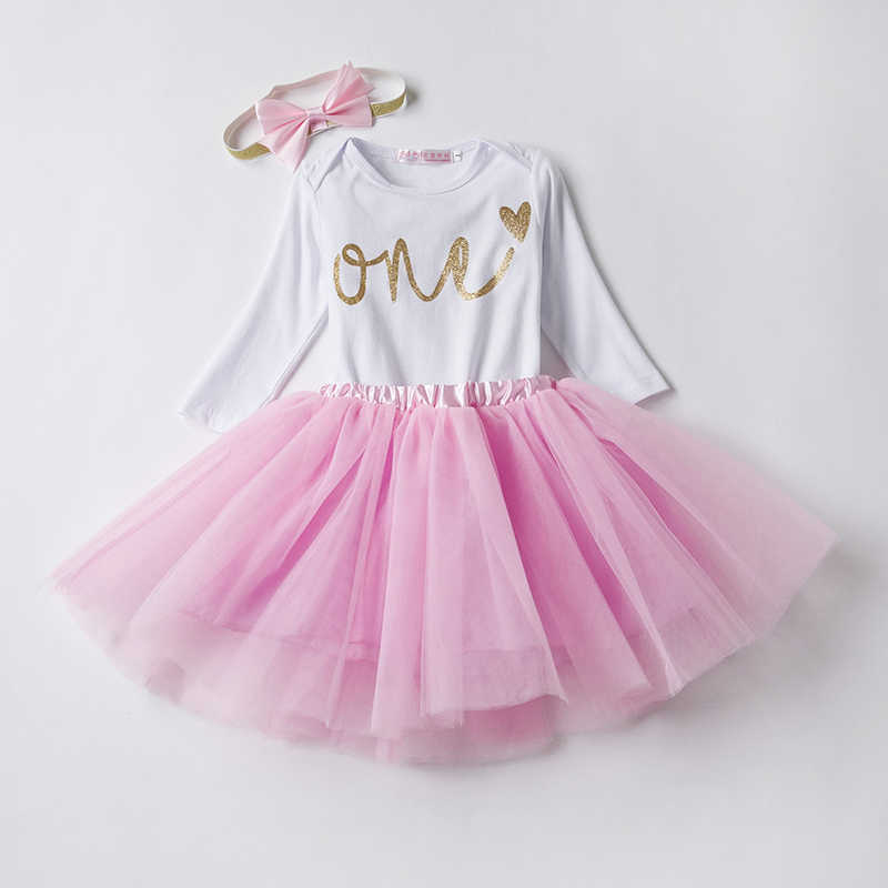 fd08a2780 Baby Girl Clothes 1 Year Old Outfit One Birthday Sets Little Girl Party  Wear Baby Romper