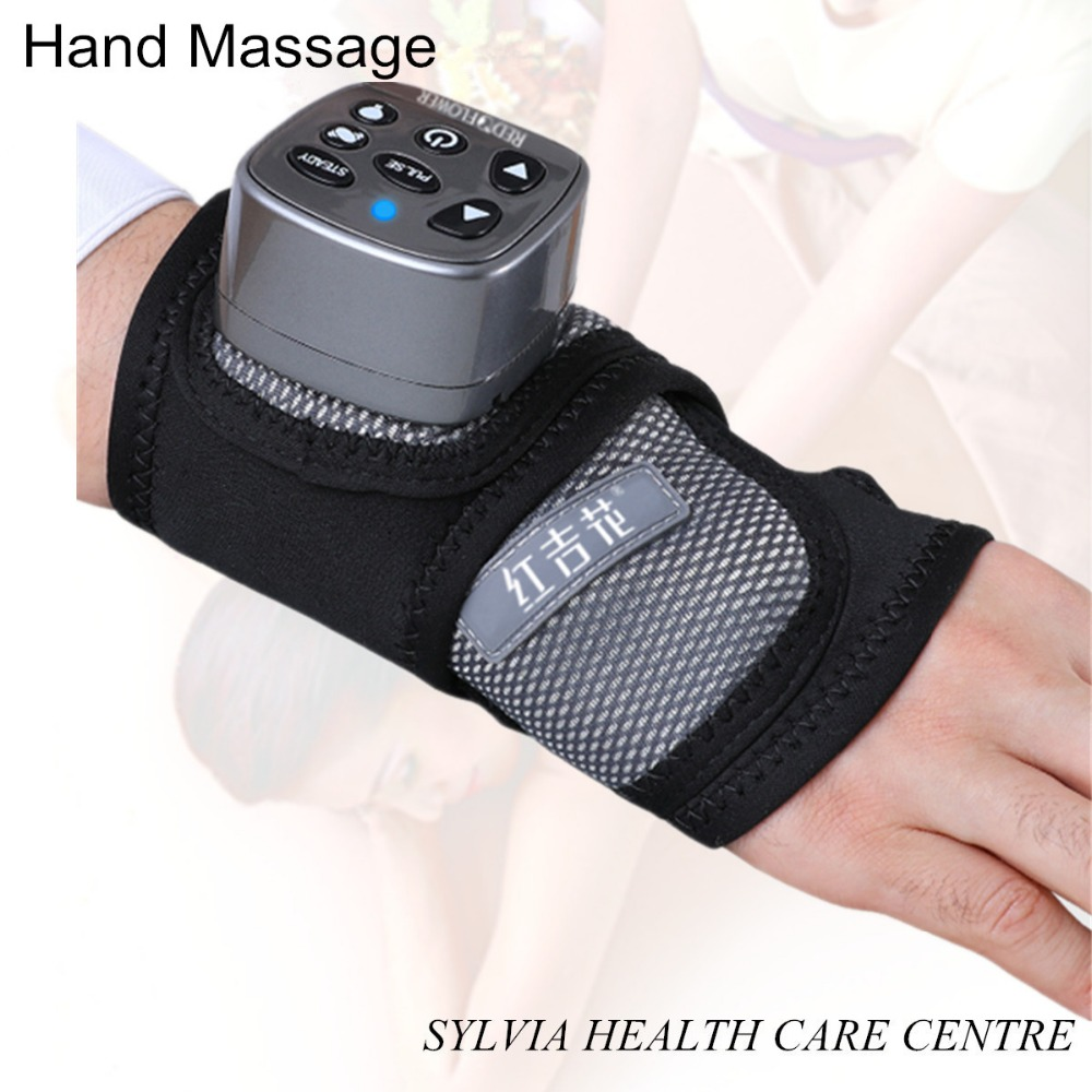 2018 best present new hand massage Infrared heating therapy pad hand support electric heated airpressure Wrist massager electric infrared heat hand massager ball massage hand