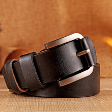 Hot Genuine Leather Pin Buckle Belt For Men