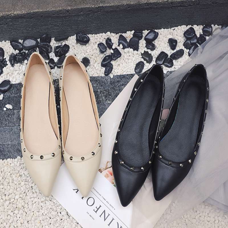 Spring Autumn Fashion Women Shoes Pointed Toe Slip-On Flat Shoes Woman Comfortable Single Casual Flats boat shoes zapatos mujer spring summer women flat ol party shoes pointed toe slip on flats ladies loafer shoes comfortable single casual flats size 34 41