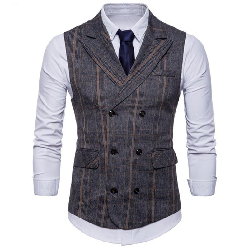 2018 New Arrival Dress Vests For Men Slim Fit Mens Suit Vest Male Waistcoat Gilet Homme Casual Sleeveless Business Jacket
