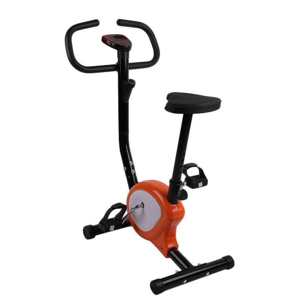 Newest Indoor Adjustable Home Fitness Pedal Exercise Bike Upright LCD Display Bike Upright Exercise Bike Indoor Cycling Bike bike sweatband indoor bike home cycling sweatband bicycle bike indoor band for sweat indoor cycling