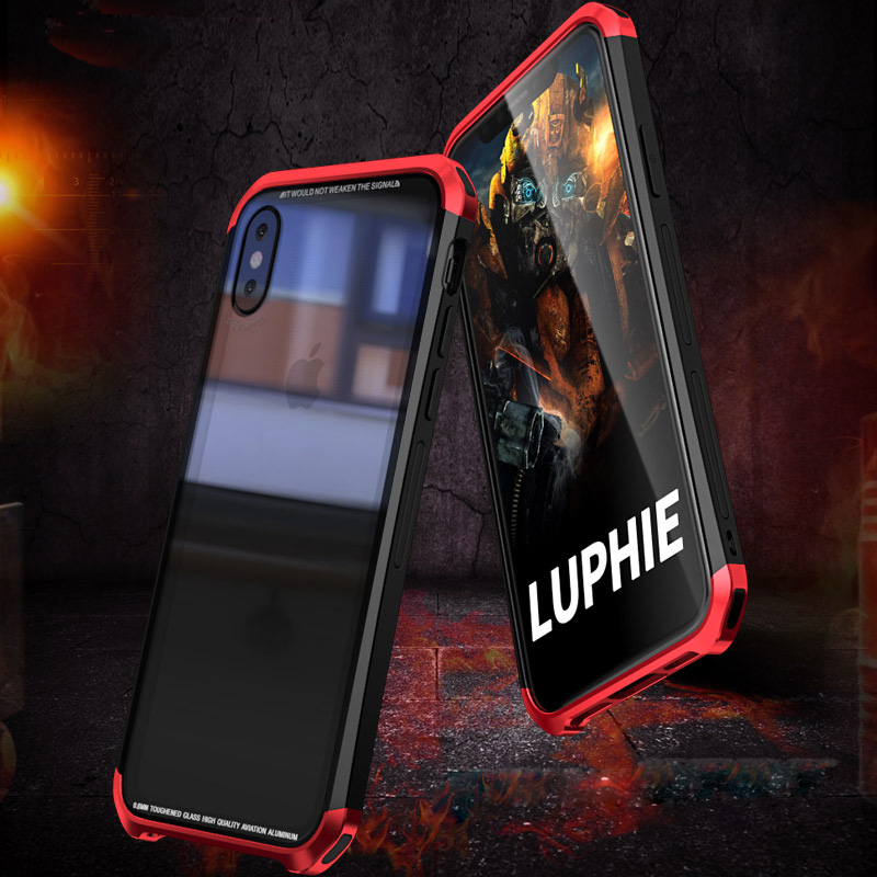 case For iphone XS max cases luphie Luxury Metal Clear back cover coque For Apple iPhone X XS max XR 10 phone Protective Case iPhone XS