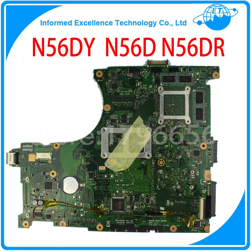 Original laptop motherboard for asus N56D non-integrated mainboard fully tested free shipping asus g31 motherboard g31tlm g31tlm2 fully integrated g31tm v1 0 lot