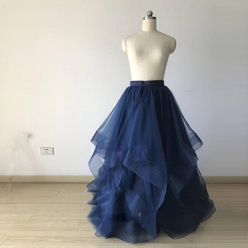 Longues Volants Haut Jupe De Photoshoots Puffy Bleu Aiar À Jupes 2018 Robes La Gamme Sur Mariée Tulle Mesure Royal Pour Marine Femmes Bal rYwxnwp
