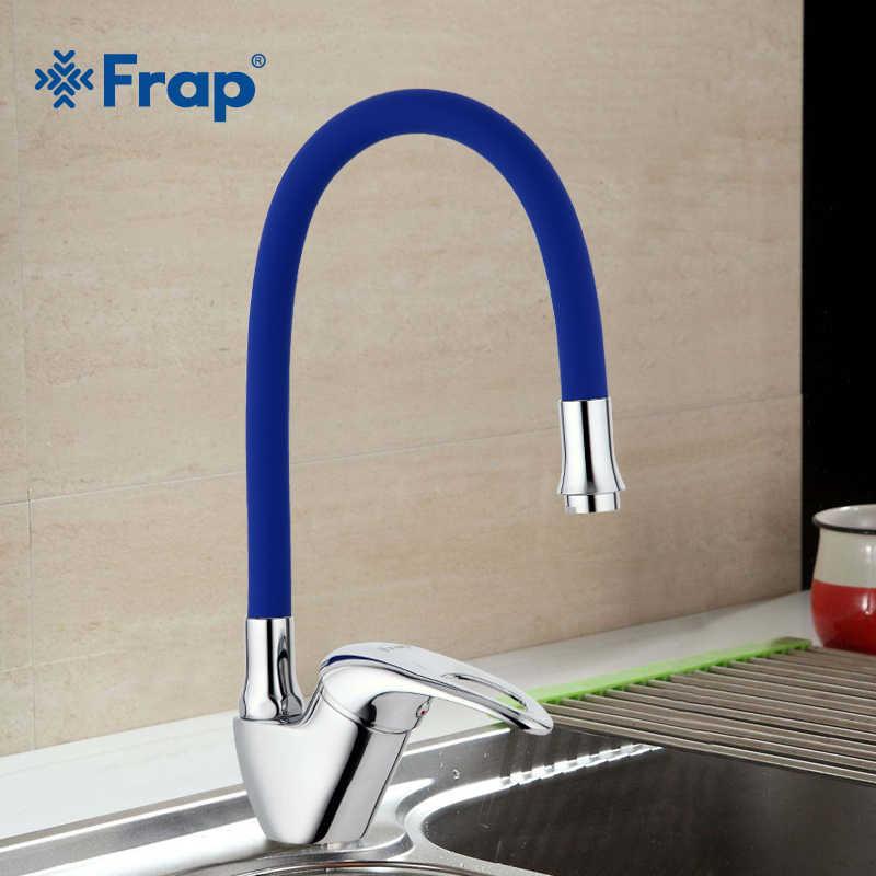 Frap ก๊อกน้ำห้องครัวใหม่มาถึง 6 สีซิลิกาเจลจมูกๆทิศทางการหมุนเย็นและน้ำอุ่น TAP torneira Cozinha