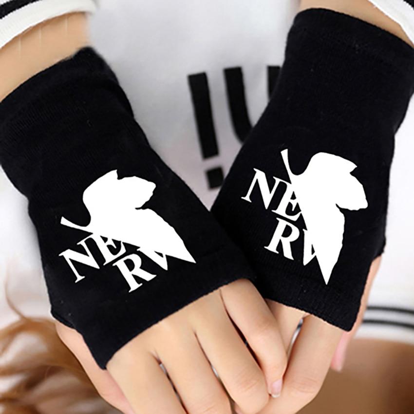 2017 Anime EVANGELION EVA  Cotton Knitting Wrist Gloves Mitten Lovers Accessories Cosplay Fingerless Fashion