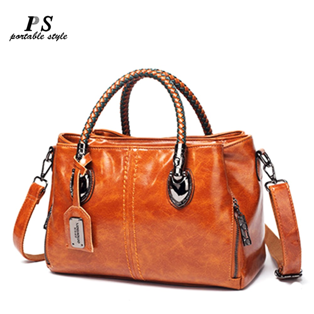 Luxury Brand 100% Genuine Leather Women's Messenger Bags Ladies Handbags High Quality Designer Shoulder Tote Bag For Female
