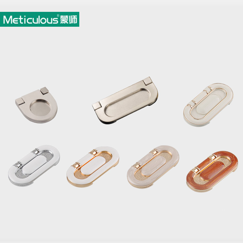 Meticulous Cabinet Furniture Hidden Recessed Flush Pull Doors Drawer Multicolor Handle Modern Sliding Door Zinc Alloy Knob