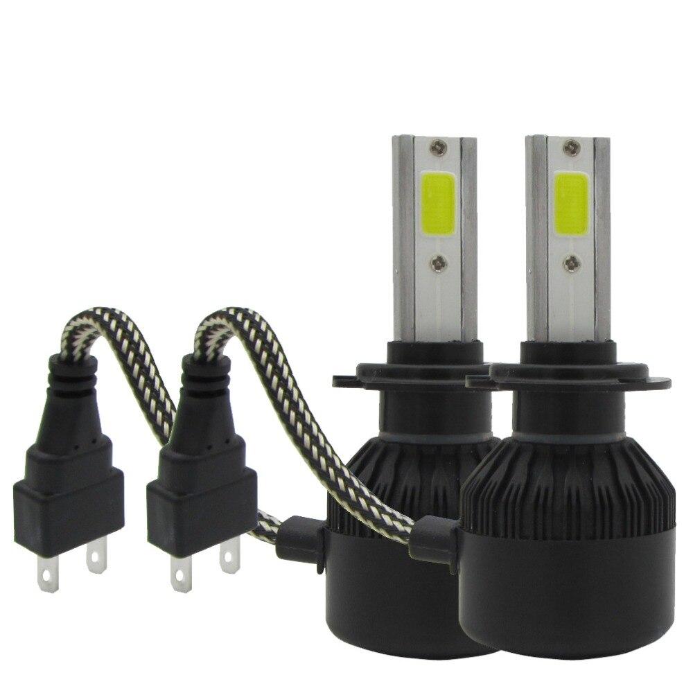 Car LED Headlight Bulbs kit 2PCS Plug&Play Auto H7 9005/HB3 9006/HB4 H8 H9 H11 50W 6000LM White Light 6000K  Fog Light