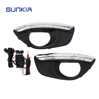 New Specific LED Daytime Running Light For Hyundai Santa Fe 2010 2012 With Fog Lamp Hole