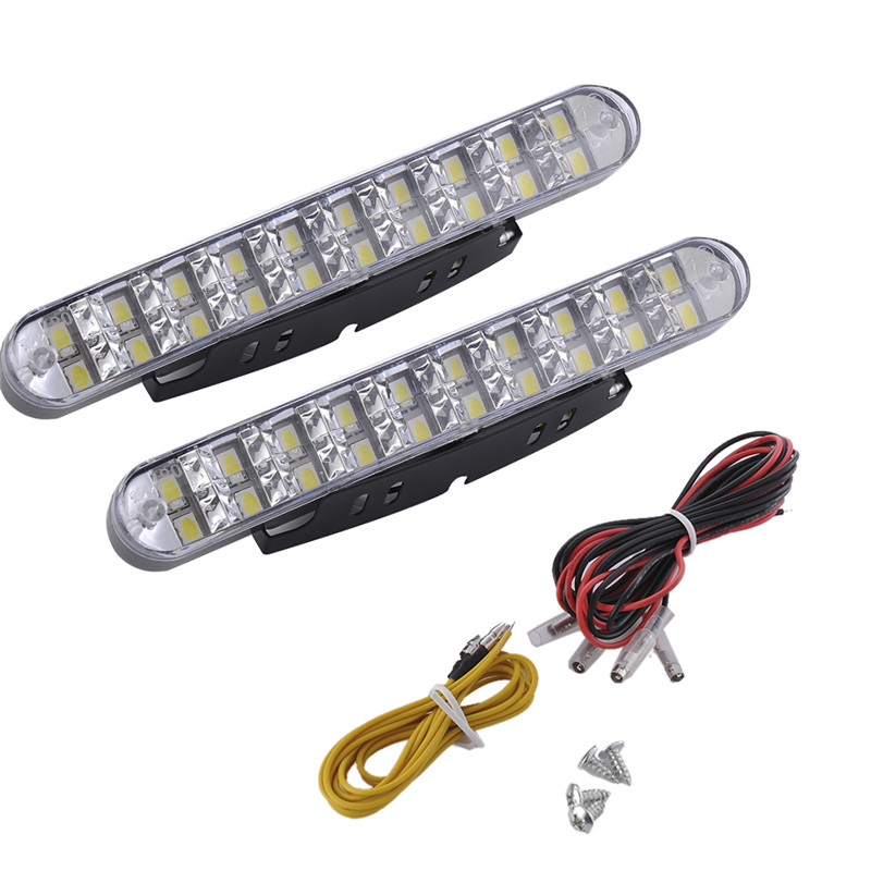 2Pcs Car LED Daylight DC 12V Running Light DRL With Turn Lights 40W Lamp For Truck SUV Trailer lyc 6000k led daylight for citroen c4 for nissan led headlights 12v car led lights ip 68 chips offroad work light 40w