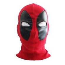 Крутой Дэдпул супергероев Marvel маска Воздухопроницаемая ткань Искусственная кожа анфас маска Хэллоуин Косплэй держать теплая Балаклава шапка