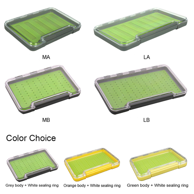 Aventik Silicone Fly Box Super Slim 100% Waterproof Fly Fishing Box M and L Medical Grade Silicone Flies Boxes Fly Boxes