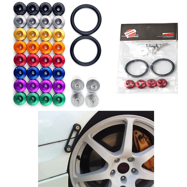 JDM Style Aluminum Bumper Quick Release Fasteners Fender Washers For Honda Civic Integra And Universal Car QRF002