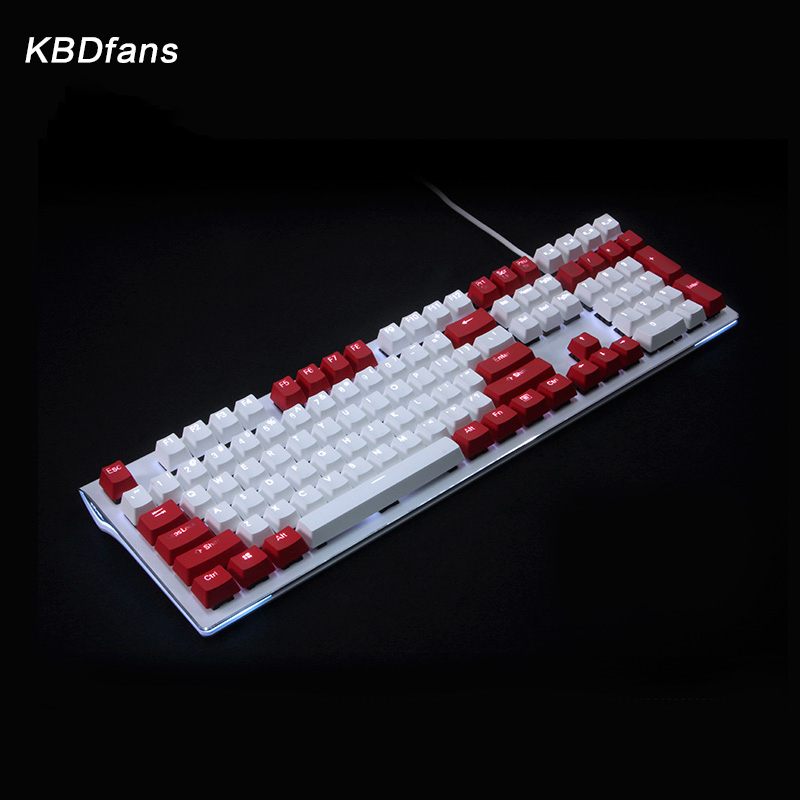 kbdfans 108 key PBT Double shot Translucidus Backlit Keycaps For Corsair K65 K70 Logitech G710 Mechanical Keyboard iso keys logitech g710