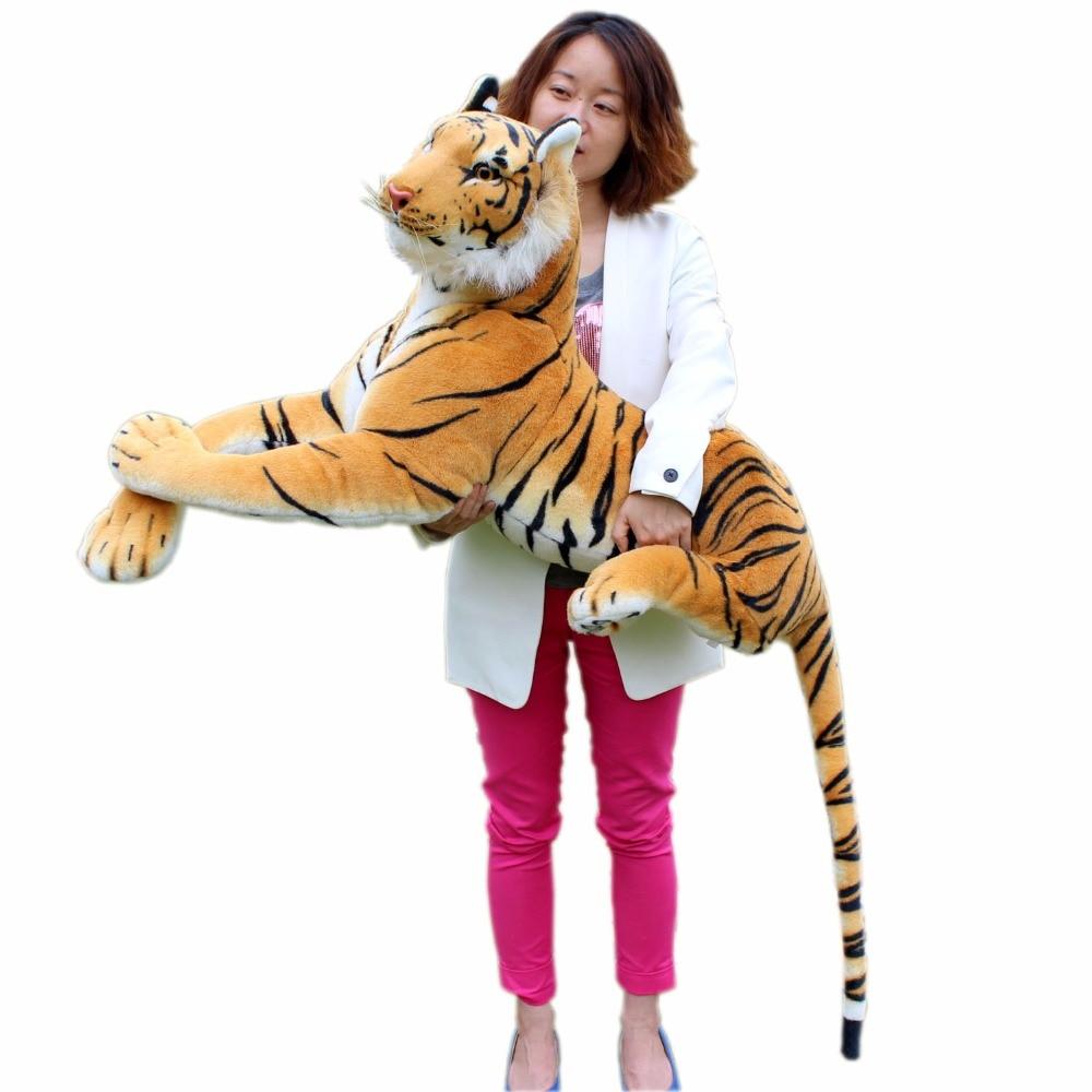 JESONN Giant Realistische Knuffels Tiger Grote Levensechte Knuffels voor kinderen Verjaardagscadeautjes - 2