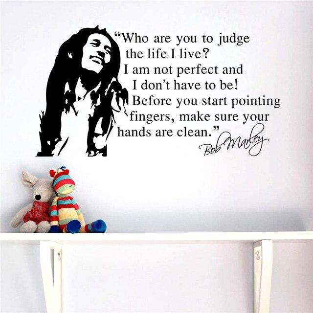 CÉLÈBRE music star Bob Marley citations vinyle accueil stickers ...