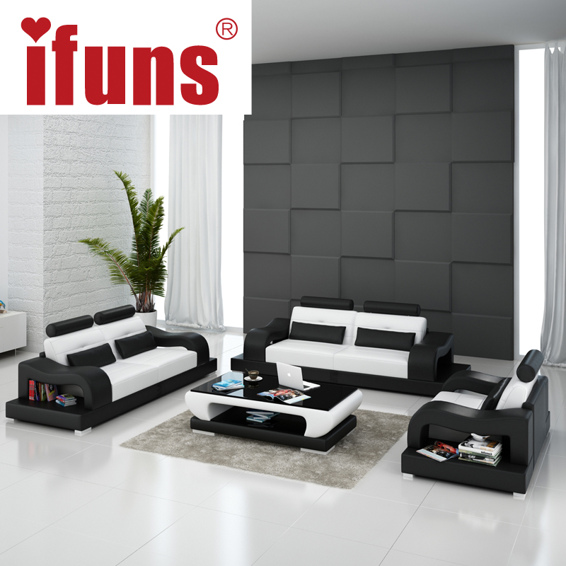 IFUNS 2016 New Modern Design American Home Living Room Furniture1 2 3 Big Size Genuine Cow Leather Sectional Sofa In Sofas From Furniture On