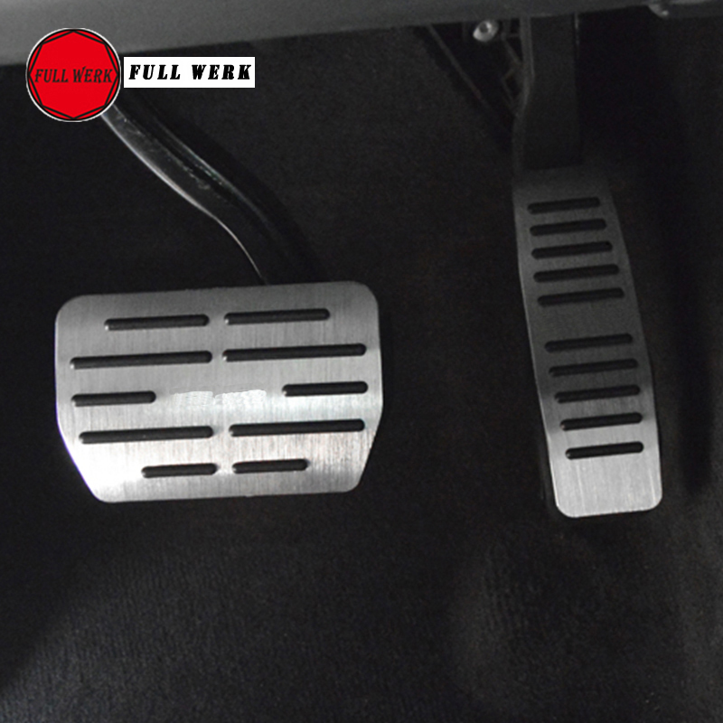 Car pedal for VW Volkswagen Touareg 2006 2018 Accelerator Gas Brake Footrest Cover Protector Accessories Set