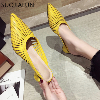 SUOJIALUN 2019 Summer New Designer Slippers Women Mules Shoes Fashion Stripe Slides Ladies Brand Female Luxury