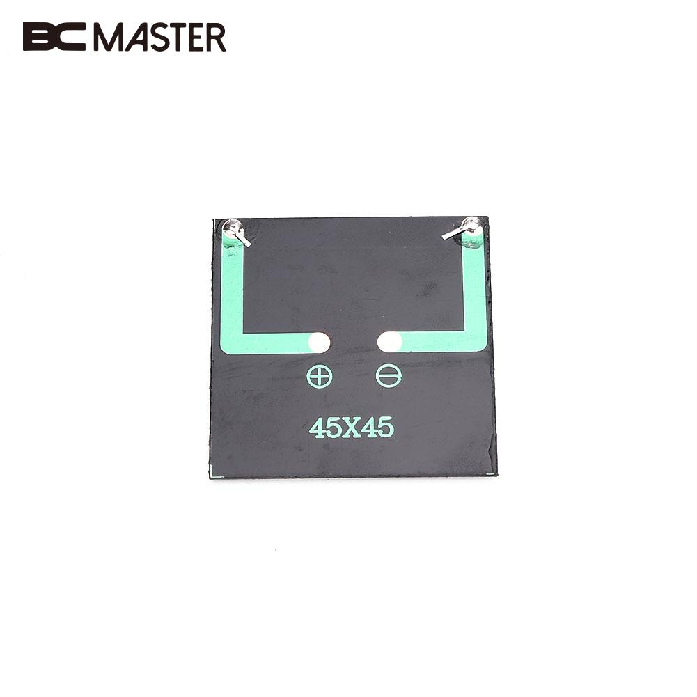 BCMaster 0.25W 5V Mini Solar Panel Cell Charger Polycrystalline Portable DIY Black Charging