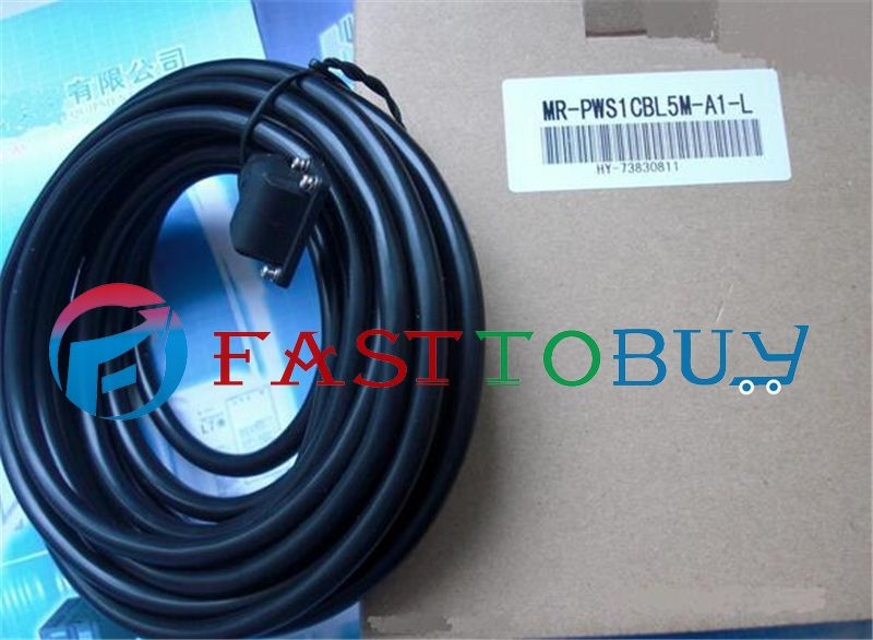 NEW Power Cable MR-PWS1CBL5M-A1-L Compatible With Mitsubishi Servo 5M One Year Warranty servo cable mr pwcnk1 10m 10 meter mr pwcnk1 servo power connector