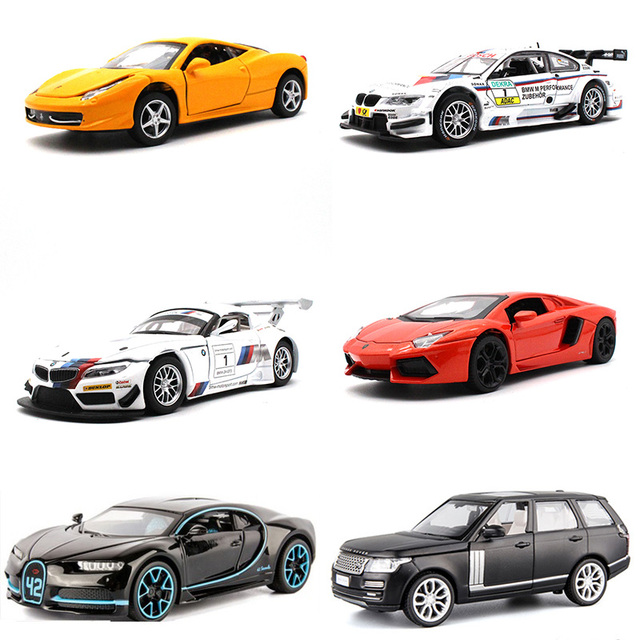 US $8 99 |kids toys 1:32 Diecast Car model Lyken BM Bugatti metallic  material Sports car SUV Collection decoration -in Diecasts & Toy Vehicles  from