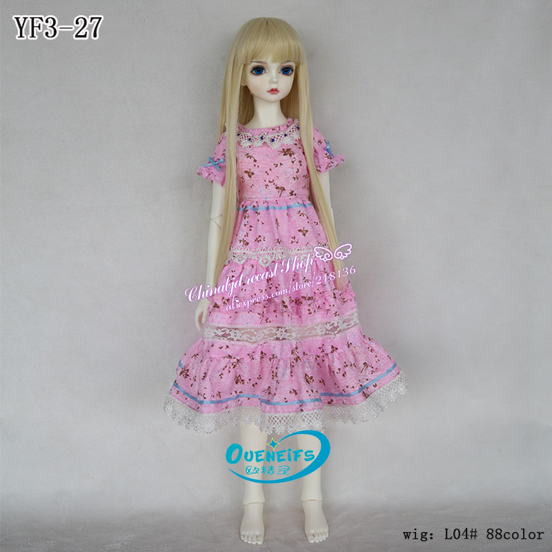OUENEIFS free shipping long skirt floral dress Warehouse Lace Top Dress, 1/3 bjd sd doll body clothes,no doll or wig YF3-27