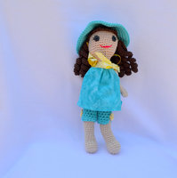 crochet toys and dolls in handmake girl rattle