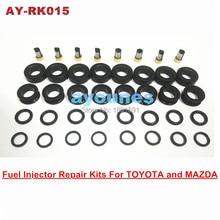 Бесплатная доставка топливная форсунка ремкомплекты резиновым уплотнения комплекты для 195500-3030 инжектора для AY-RK015