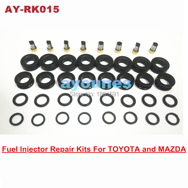 free shipping fuel injector repair kits rubber seals kits for OEM 195500-3030 1955003290 injector for AY-RK015
