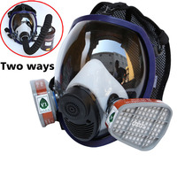Gas Masks Full Face Respirator Gas Mask Breather 2 In 1 Function 6800 Silicone Mask For
