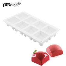 FILBAKE 1PCS Silicone 8 Holes Square Shape Cake Mold Baking Dessert Ice-Creams Tools Mousse Pudding Moulds Accessories