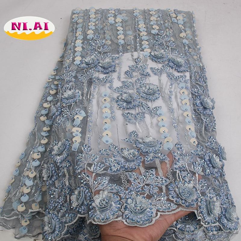 Latest French Nigerian Laces Fabrics High Quality Purple Dress Nigerian Lace Handmade Tissus 2 5kg Bridal