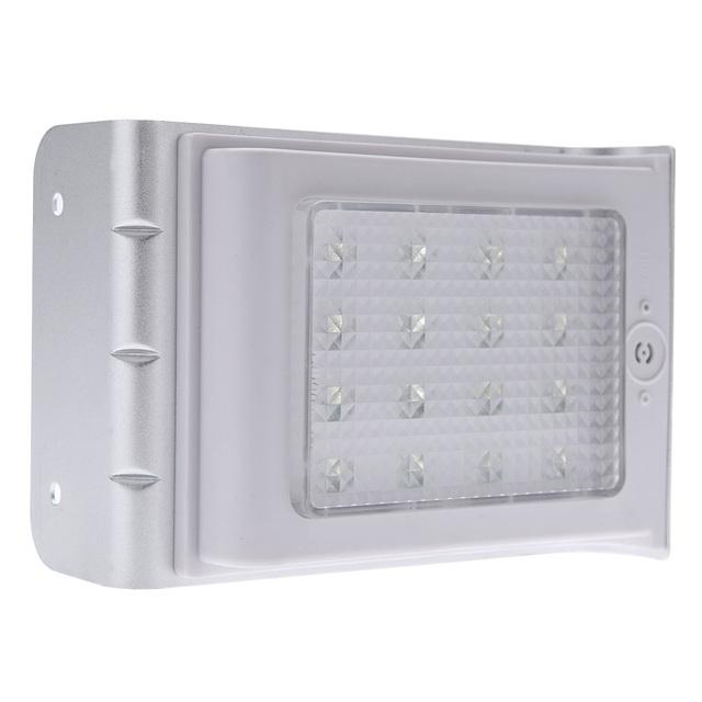 16 LED Water-Resistant Outdoor Lighting Lamp/ Solar Powered Wall Light Ray/Sound Sensor Energy Saving Garden Path Yard LED IP65