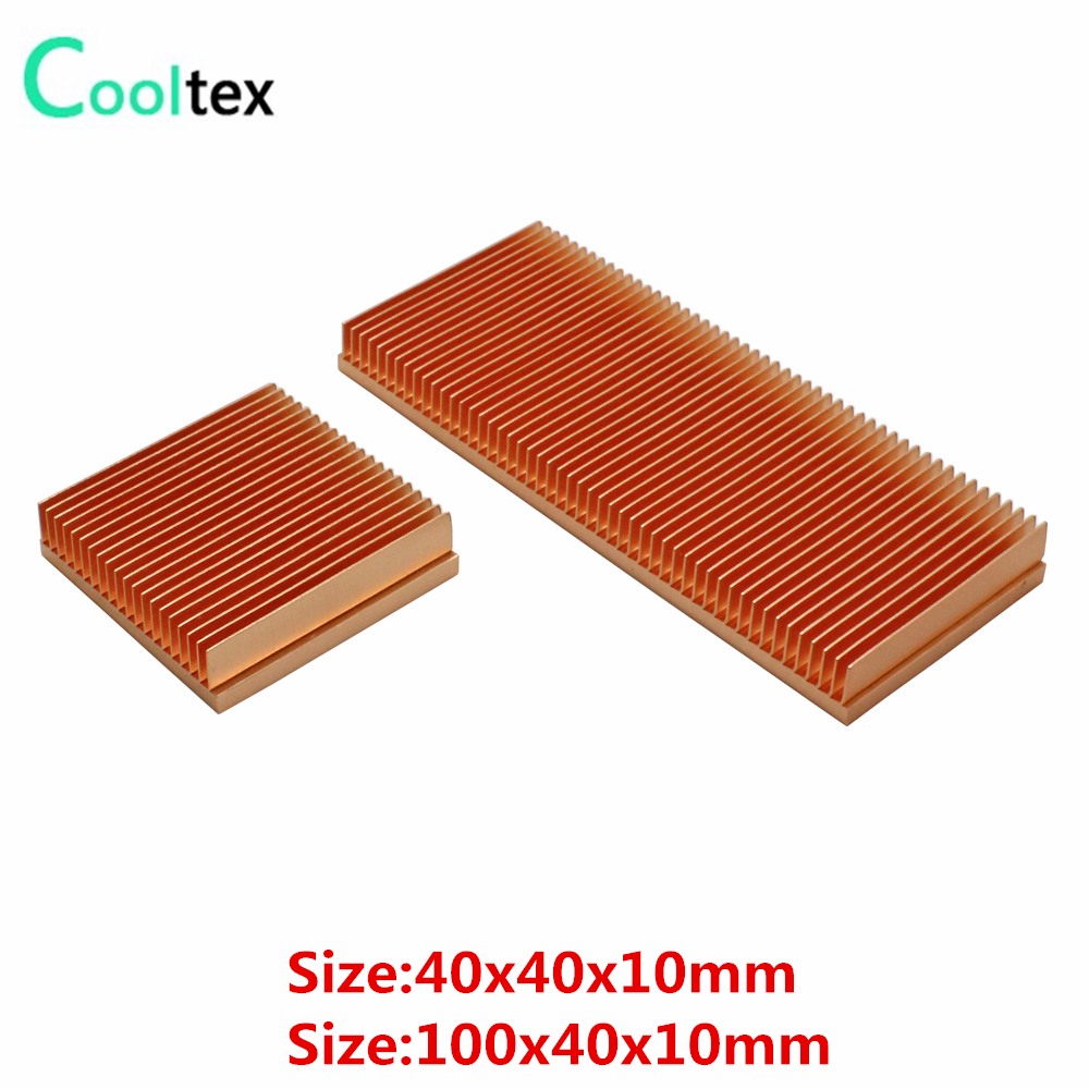 Raspar Fin Dissipador De Calor De Cobre puro DIY Dissipador de Calor Do Radiador Cooler Para CHIP Eletrônico LED IC RAM a dissipação de calor