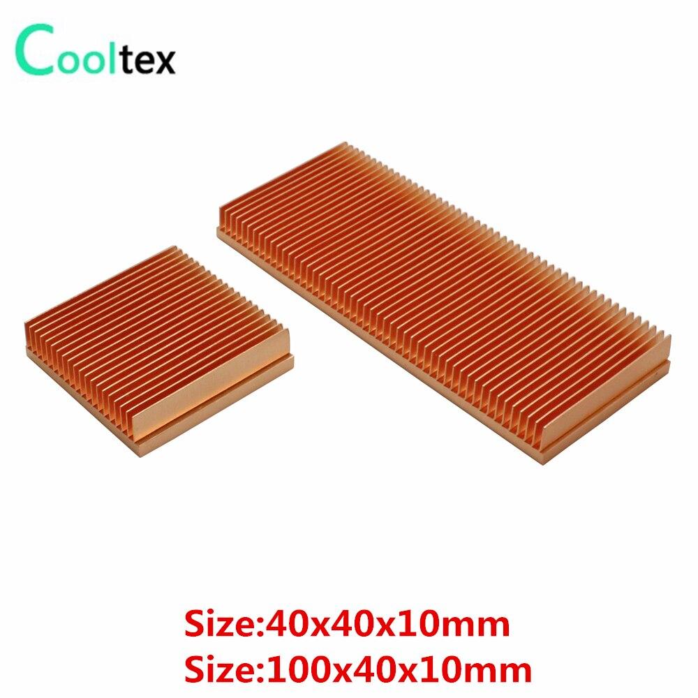 Reines Kupfer Kühlkörper Schäl-Fin DIY Kühlkörper Kühler Kühlung Kühler Für Elektronische CHIP LED IC RAM wärmeableitung