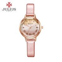 2016 JULIUS Mulheres De Luxo Assista Envoltório Quartz Watch Mulheres Vestido Relógios Moda Feminina Relógios de Pulso À Prova D' Água Relojes Mujer