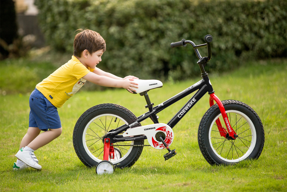 BMX Cycling Kid Bikes Children Sport Bicycle Rough Tire For Girl And Boy 16-18 Inch With Training Wheel