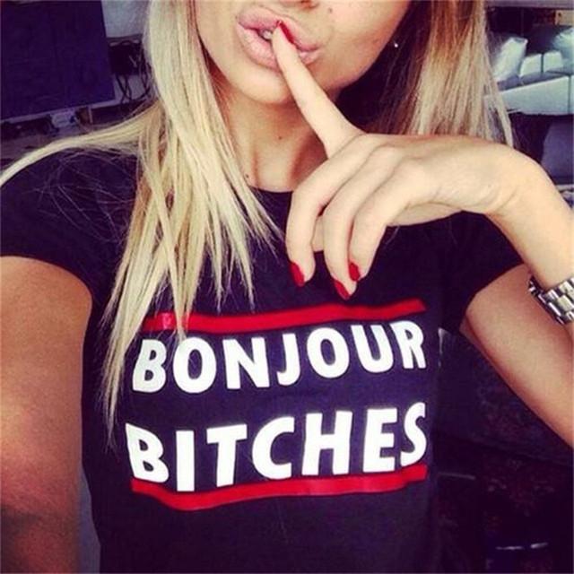 Tshirt 2018 Summer Vogue Women Clothing Black White T-shirt Print Letter Funny Street Punk Rock Casual Tops Tees T Shirt Femme