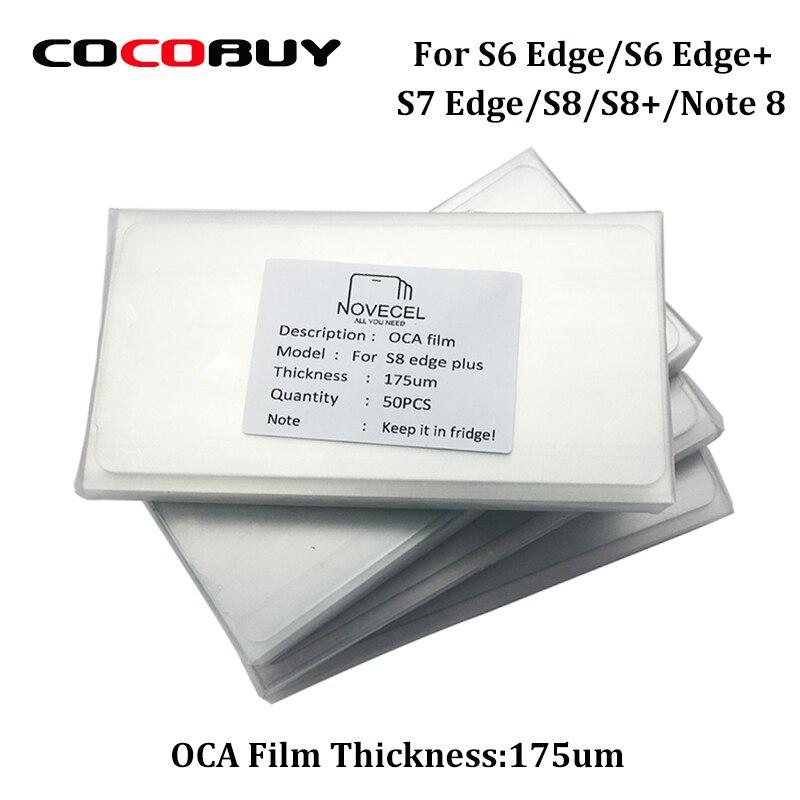 50pcs 175um OCA glue Optical Clear Adhesive for Samsung S8 plus S8 S7 edge S6edge LCD