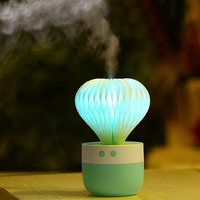 150 ML Mini Air Humidifier Cactus Aromatherapy Essential Home Ultrasonic With Night Lamp Oil Diffuser Creative