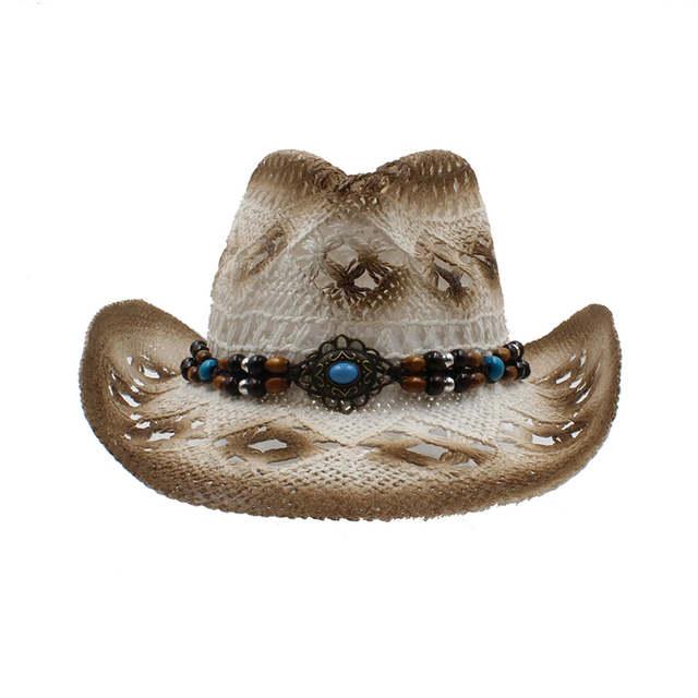 100% Handwork Clássico Mulheres Oco dos homens Pai Toquilla Palha Cowgirl  Ocidental do Chapéu de 1bdf692eba3