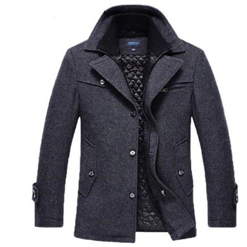 black Nouveau Gray Longue Automne Coton Livraison En Gray coffee Section Marque Mode Laine hiver dark Plus Hommes 2018 De Manteau Gratuite Épais 5qzxtzU1