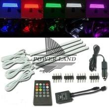 DIY Wireless Music Control 7 colors RGB Strip Lights 5050 SMD LED Car Interior Decorative Lighting lnk362gn smd 7